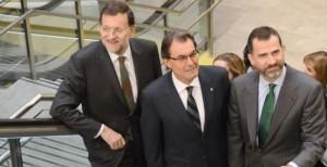 Rey, Rajoy, Mas
